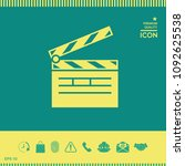 clapperboard icon symbol | Shutterstock .eps vector #1092625538