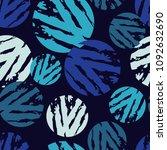 polka dot seamless pattern.... | Shutterstock .eps vector #1092632690