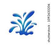 water splash vector | Shutterstock .eps vector #1092633206