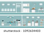 interior of pet clinic  animal... | Shutterstock .eps vector #1092634403