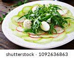 carpaccio of radish with... | Shutterstock . vector #1092636863