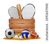 sport background . vector... | Shutterstock .eps vector #1092637040
