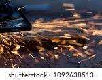 spark on a black background | Shutterstock . vector #1092638513