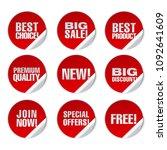 illustration of red round... | Shutterstock . vector #1092641609