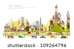 autumn in the city | Shutterstock .eps vector #109264796