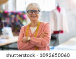 confident senior fashion... | Shutterstock . vector #1092650060