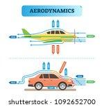 aerodynamics air flow... | Shutterstock .eps vector #1092652700