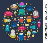 vector cartoon illustration ... | Shutterstock .eps vector #1092653549