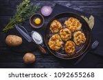homemade traditional potato... | Shutterstock . vector #1092655268