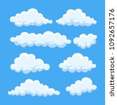 cartoon cloud set isolated on... | Shutterstock .eps vector #1092657176