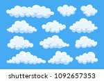 cartoon cloud set isolated on... | Shutterstock .eps vector #1092657353