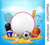 sport background illustration | Shutterstock . vector #1092659906