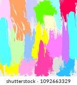 abstract colorful paintbrush... | Shutterstock .eps vector #1092663329