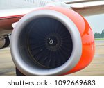 jet engine of thai lion air... | Shutterstock . vector #1092669683