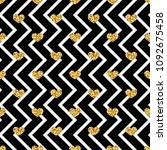 gold heart seamless pattern.... | Shutterstock .eps vector #1092675458