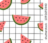 summer stylish seamless pattern ... | Shutterstock .eps vector #1092693440