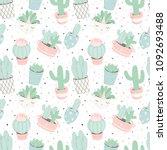 cute summer theme seamless... | Shutterstock .eps vector #1092693488