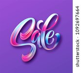 sale calligraphic lettering.... | Shutterstock .eps vector #1092697664