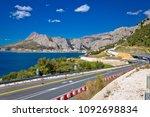 scenic dalamtian road by the... | Shutterstock . vector #1092698834