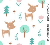 Seamless Pattern With Deer ...