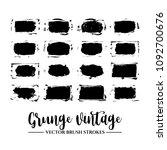 set of black brush stroke and... | Shutterstock .eps vector #1092700676