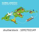 global logistic isometric... | Shutterstock . vector #1092702149