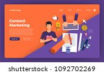 mock up design website flat... | Shutterstock .eps vector #1092702269