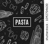 italian pasta black banner.... | Shutterstock .eps vector #1092704630