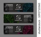 auto parts banner. modern... | Shutterstock .eps vector #1092710360