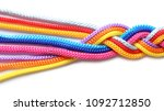 Braided Colorful Ropes On Whit...