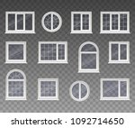 set of closed square ... | Shutterstock .eps vector #1092714650