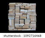 stack of chaotically stacked... | Shutterstock . vector #1092716468
