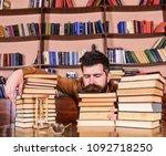 man on sleeping face lay... | Shutterstock . vector #1092718250