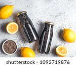 detox activated charcoal black... | Shutterstock . vector #1092719876