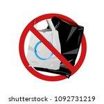 no plastic bags   Shutterstock .eps vector #1092731219