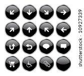 16 black web buttons part 2  up ... | Shutterstock .eps vector #10927339