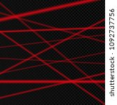 abstract red laser beam.... | Shutterstock .eps vector #1092737756