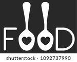romantic food word logo design | Shutterstock .eps vector #1092737990