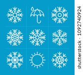 outline weather 9 vector icons...