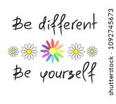 be different  be yourself  ...   Shutterstock .eps vector #1092745673