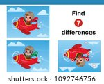 find 7 differences education... | Shutterstock .eps vector #1092746756