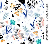 trendy floral pattern of many... | Shutterstock .eps vector #1092752186