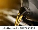 pouring oil motor car ...   Shutterstock . vector #1092755333