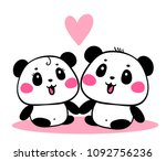 vector illustration of lovely... | Shutterstock .eps vector #1092756236