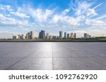 empty floor with panoramic city ... | Shutterstock . vector #1092762920