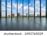empty window with panoramic... | Shutterstock . vector #1092765029