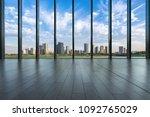 empty window with panoramic... | Shutterstock . vector #1092765029