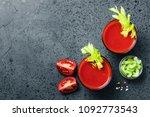 Celery Tomato Juice In Glasses...
