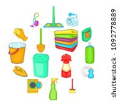 household elements icons set in ... | Shutterstock .eps vector #1092778889