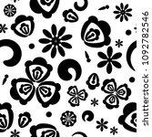 vector seamless floral pattern  ... | Shutterstock .eps vector #1092782546